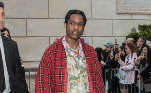 Le rappeur ASAP Rocky dans les rues de Rome