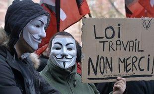 Des opposants à la Loi Travail manifestent à Strasbourg le 9 mars 2016
