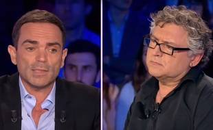 Yann Moix et Michel Onfray sur le plateau de «On est pas couché» le 20 septembre 2015.
