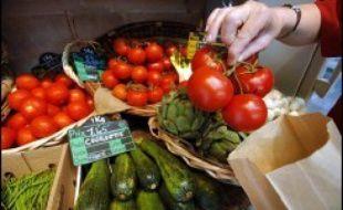 Les prix des fruits et légumes augmentent en France depuis quelques années, mais moins fort que les consommateurs ne le pensent, alors que les achats baissent inexorablement dans le secteur, au profit des services, selon des études publiées lundi.