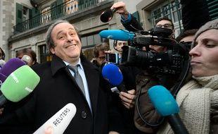 Michel Platini à Lausanne, le 8 décembre 2015