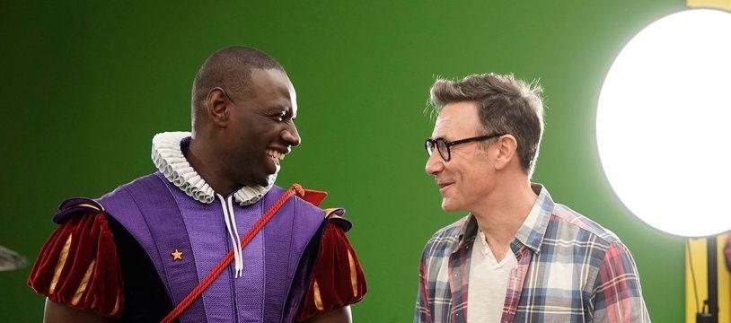 Omar Sy et Michel Hazavanicius sur le tournage du «Prince oublié»