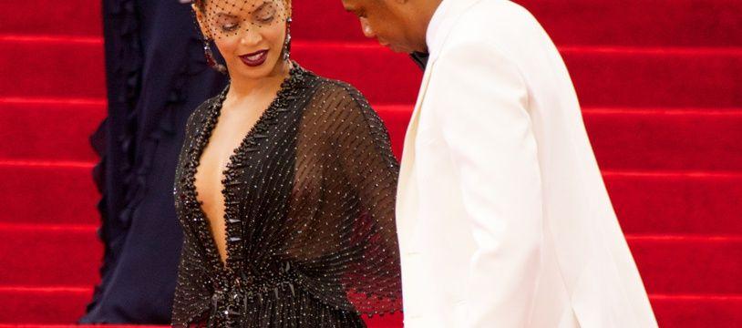 La chanteuse Beyoncé et son mari, le rappeur Jay-Z, au Met Gala en 2014