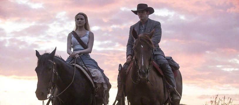 Evan Rachel Wood et James Marsden dans la saison 2 de la série «Westworld».