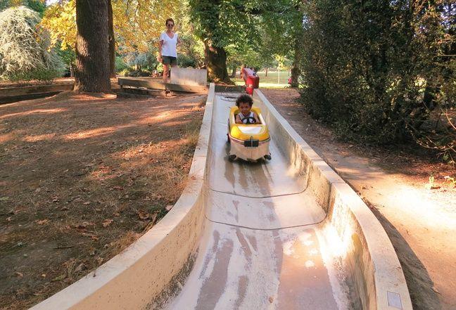La piste du Babibob du parc de Procé à Nantes.