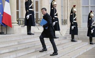 Manuel Valls à l'Elysée le 24 février 2015.