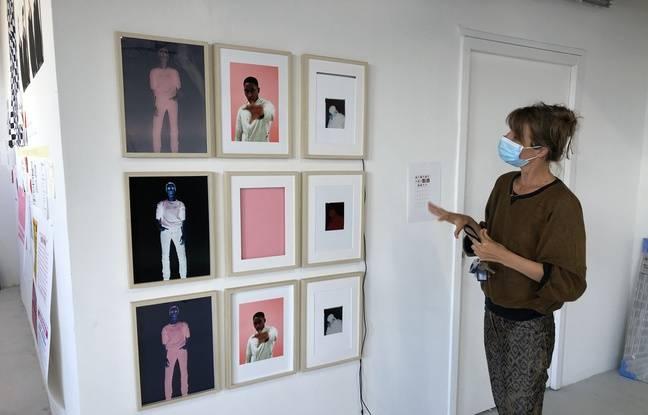 L'artiste Lila Neutre présente son travail, encore en réflexion.