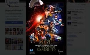 Capture écran du compte Twitter de la gendarmerie nationale, le 16 décembre 2015.