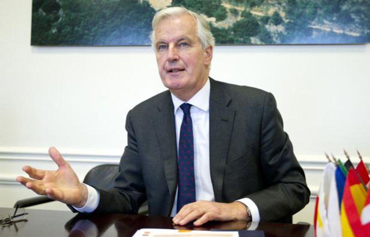 Michel Barnier, Commissaire européen au Marché interieur et aux Services le 29 janvier 2013 dans son bureau parisien. – V. WARTNER / 20 MINUTES