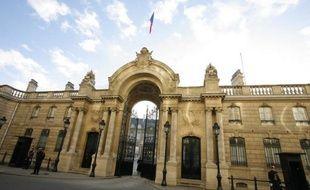 L'entrée du Palais de l'Elysée.