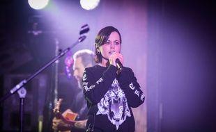 Dolores O'Riordanen concert avec The Cranberries le 20 mai 2017 à Londres