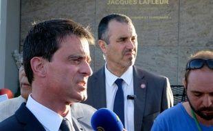 Le Premier ministre Manuel Valls à Noumea le 29 avril 2016