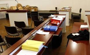Illustration d'un tribunal, à l'ouverture d'un procès, le 5 décembre 2012.