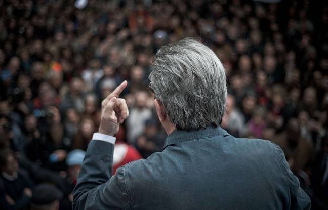 Le candidat à la présidentielle Jean-Luc mélenchon sur sa