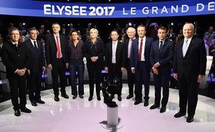 Les candidats à la présidentielle 2017. LIONEL BONAVENTURE-POOL/SIPA