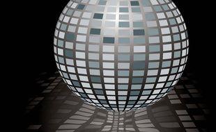 Dans une discothèque. Illustration.