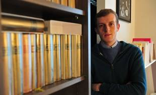 Le jeune romancier Edouard Louis en janvier 2015