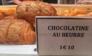 Les chocolatines de la boulangerie De Oliveira à Toulouse...qui vend très peu de pains au chocolat.