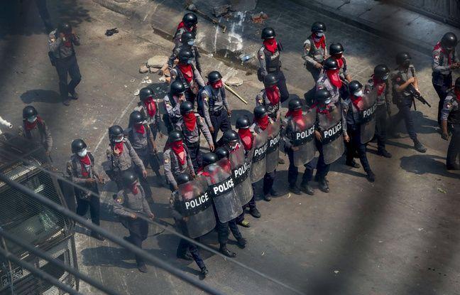 648x415 police birmane tire belles reelles manifestants manifestantes