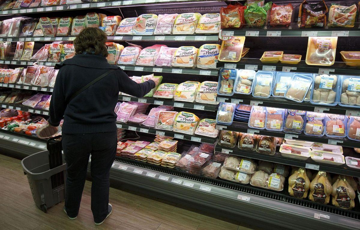 Illustration d'une femme faisant ses courses dans un supermarché. – A. Gelebart/20 Minutes/SIPA
