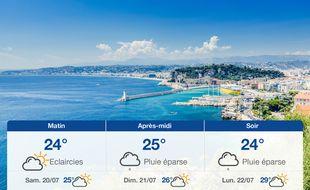 Météo Nice: Prévisions du vendredi 19 juillet 2019