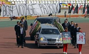 Funérailles du camerounais Patrick Ekeng, stade Dinamo, Bucarest, le 13 mai 2016