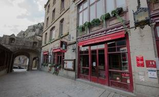 Les rues du Mont Saint-Michel, haut lieu touristique, étaient désertes fin mars 2020.