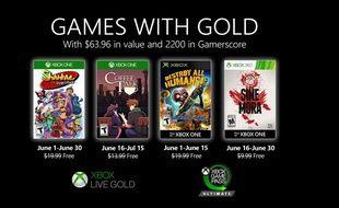 Games with Gold: voici les 4 jeux offerts sur Xbox en juin