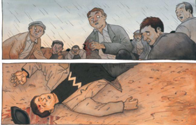 Planche de la BD : Un homme est mort