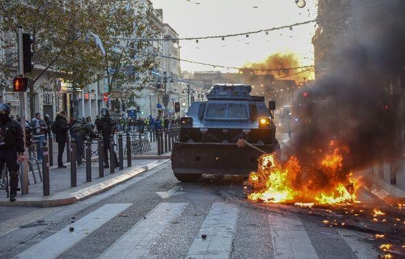 Des blindés avaient été déployés dans les rues de Marseille le 8 décembre dernier, jour de l'agression de la jeune femme.