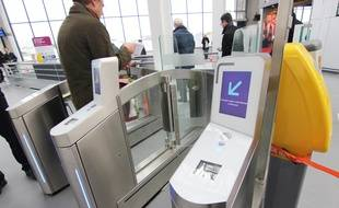 Des portiques d'accès aux quais ont été installés en gare de Rennes en novembre 2017.