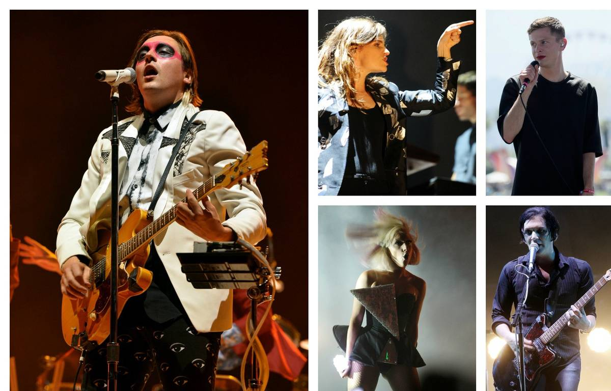 Win Butler (Arcade Fire), Christine and the Queens, Perfume Genius, Lady Gaga et Brian Molko (Placebo). – KEVIN WINTER / GETTY IMAGES NORTH AMERICA - FRED TANNEAU - FRAZER HARRISON / GETTY IMAGES NORTH AMERICA - Michael Buckner / GETTY IMAGES NORTH AMERICA  - THOMAS SAMSON