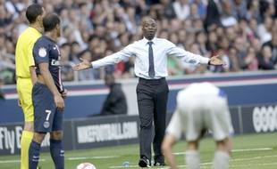 Claude Makélélé lors de PSG-Bastia, le 16 août 2014 au Parc des Princes.
