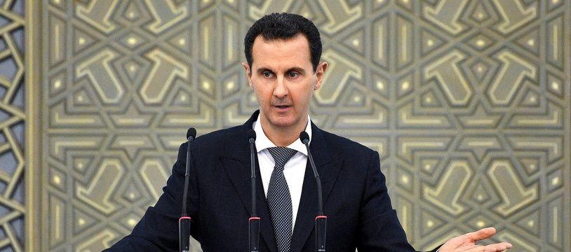 Le président syrien Bachar al-Assad à Damais le 17 février 2019.