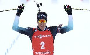 Quentin Fillon Maillet a remporté la mass start, le 26 janvier 2020.