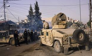 Des forces irakiennes près de Mossoul-est, le 10 janvier 2017.