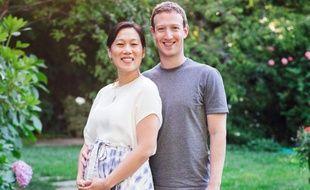 Le fondateur de Facebook, Mark Zuckerberg, et sa femme, Priscilla Chan, le 31 juillet 2015.