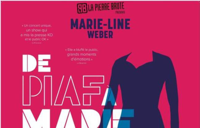 Couleurs vives et silhouette féminine pour le visuel de Piaf à Marie-Line
