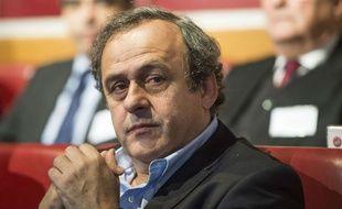 Michel Platini en Suisse le 15 décembre 2014.