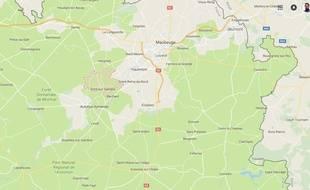 Carte situant Pont-sur-Sambre (Nord).