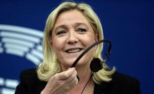 Marine Le Pen, le 10 juin 2015, au Parlement européen de Strasbourg. AFP PHOTO/FREDERICK FLORIN