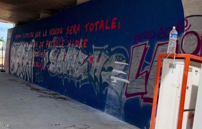 Une autre oeuvre de la Zat dégradée à Montpellier.