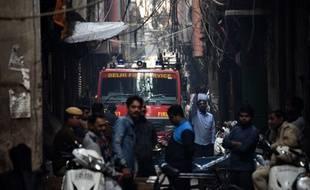 L'incendie a eu lieu dans le secteur de Anaj Mandi, à New Delhi.