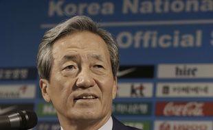 Chung Mong-joon, candidat à la présidence de la Fifa, le 3 septembre 2015.