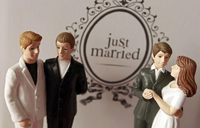 Illustration d'un mariage civil.