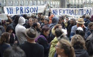 Les soutiens de Vincenzo Vecchi s'étaient déjà rassemblés à Rennes le 14 août pour réclamer sa libération.