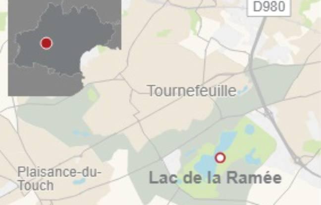Le lac de la Ramée, à cheval sur les communes de Toulouse et Tournefeuille.