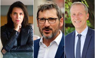 Christelle Morançais (LR), Matthieu Orphelin (écologistes) et Guillaume Garot (PS).