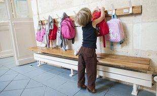 Un enfant dans une école maternelle, en septembre 2013.