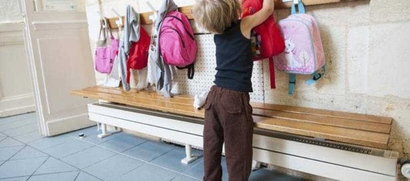 Un enfant dans une école maternelle à Bordeaux, en septembre 2013.